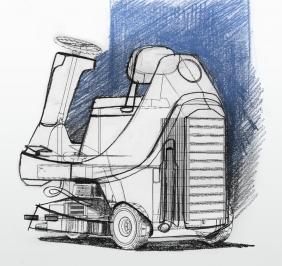 Scrubberdryer concept sketch